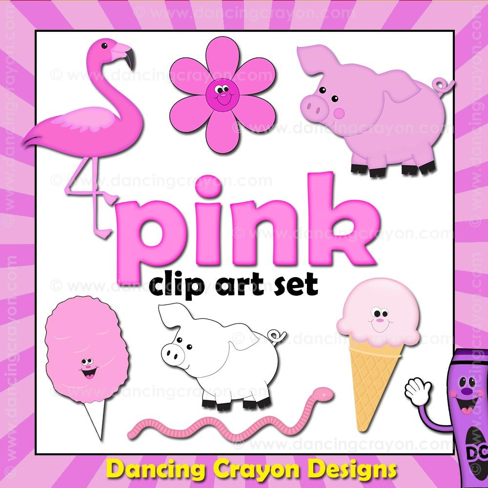 Crayon clipart color pink Pink Pink Things Crayon Designs