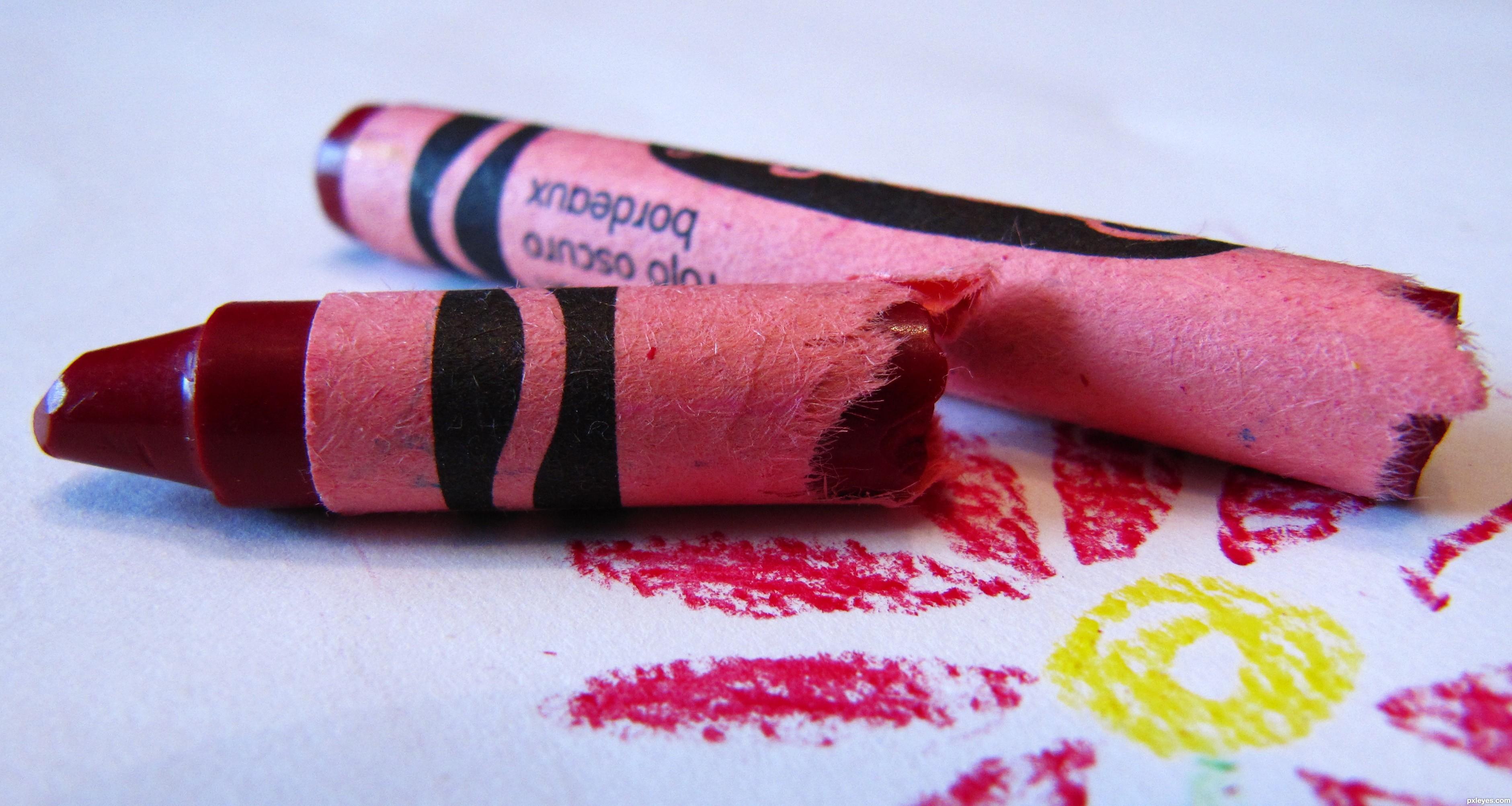 Crayon clipart color pink Viviers broken crayons broken Amanda