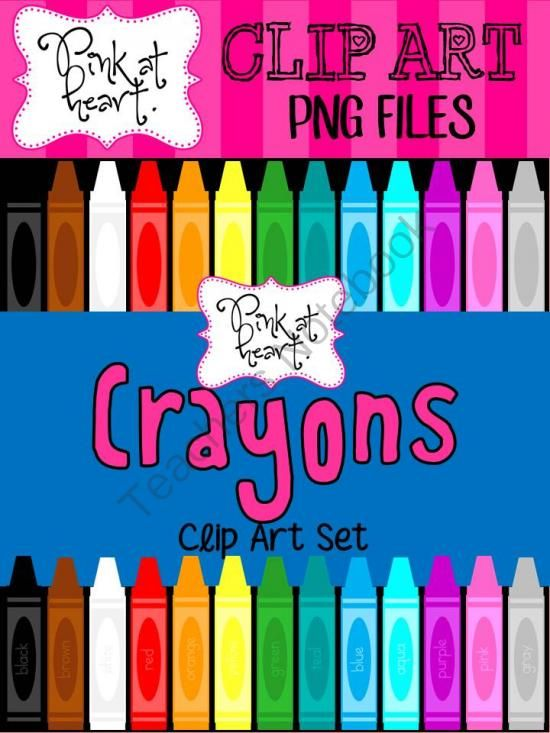 Crayon clipart color pink Store Pink images about Art