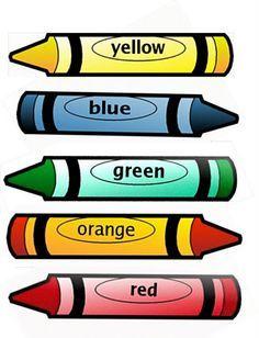 Crayon clipart color word Find more crayons word School