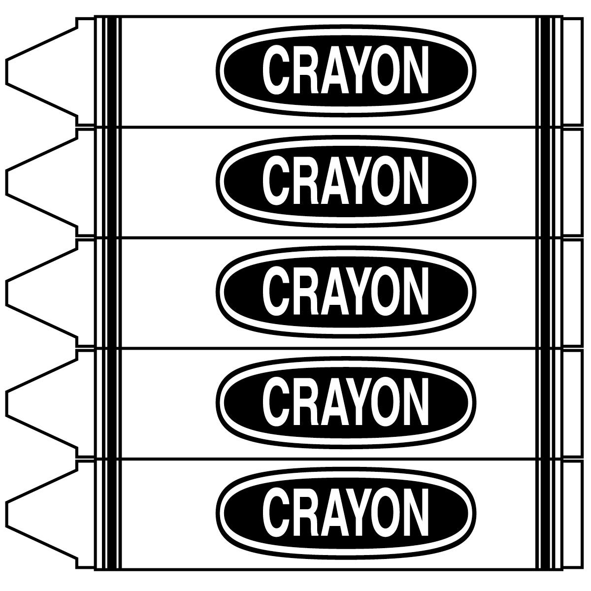 Crayon clipart color word Clip B&W Crayons com Words: