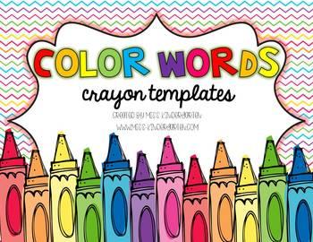 Crayon clipart color word Color Color Miss by Kindergarten