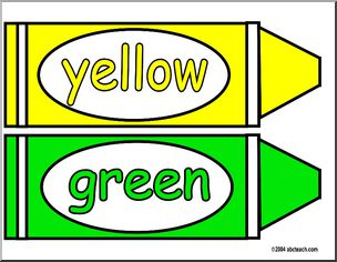 Crayon clipart color yellow Green Crayon Bulletin Green Crayon