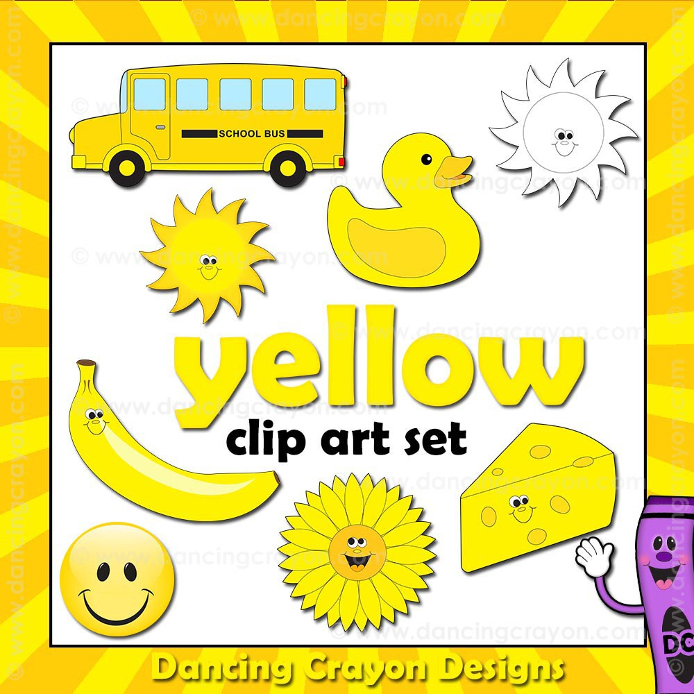 Crayon clipart color yellow Designs Dancing Designs ( Crayon