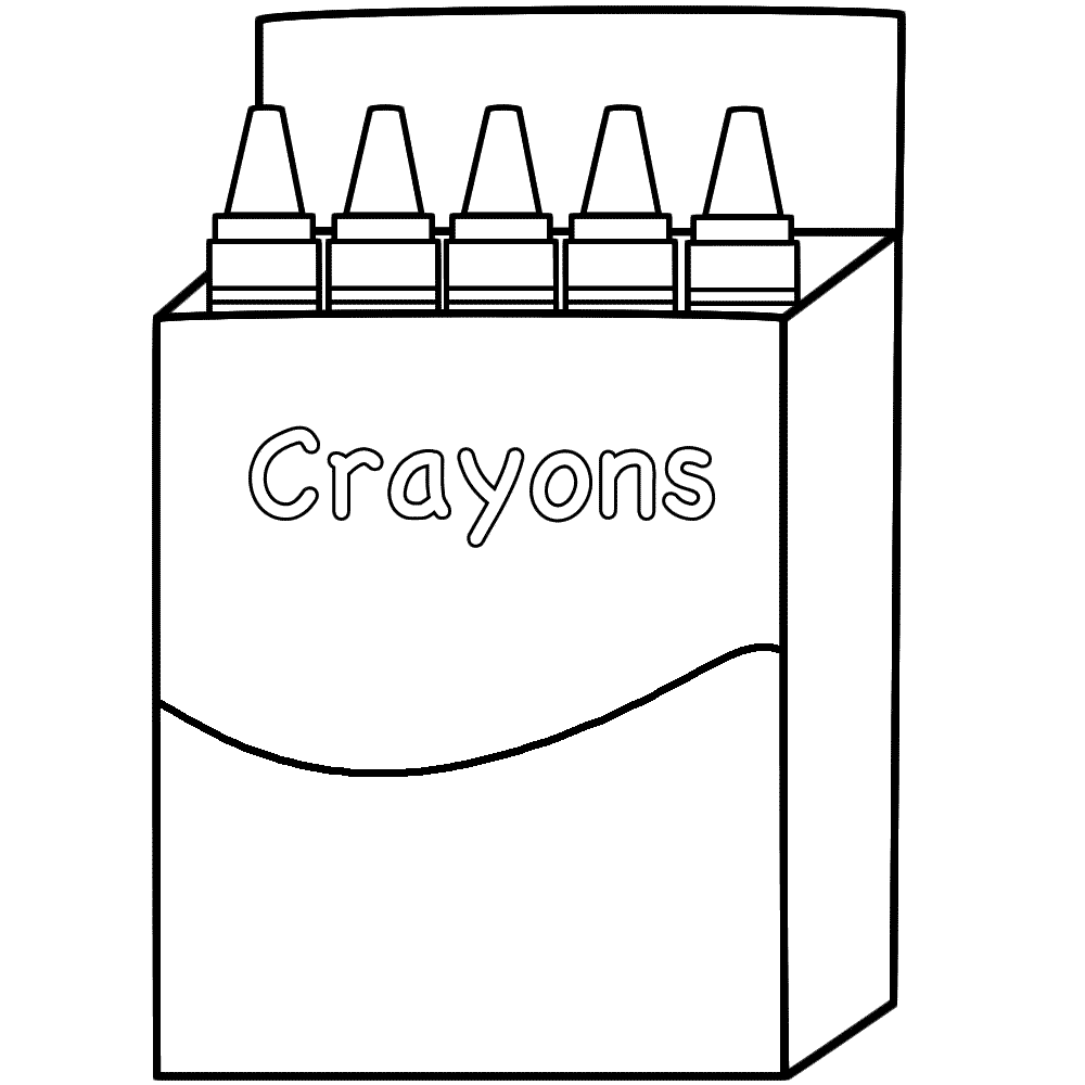Crayon clipart coloring Clipart Throughout  Ideas Crayons