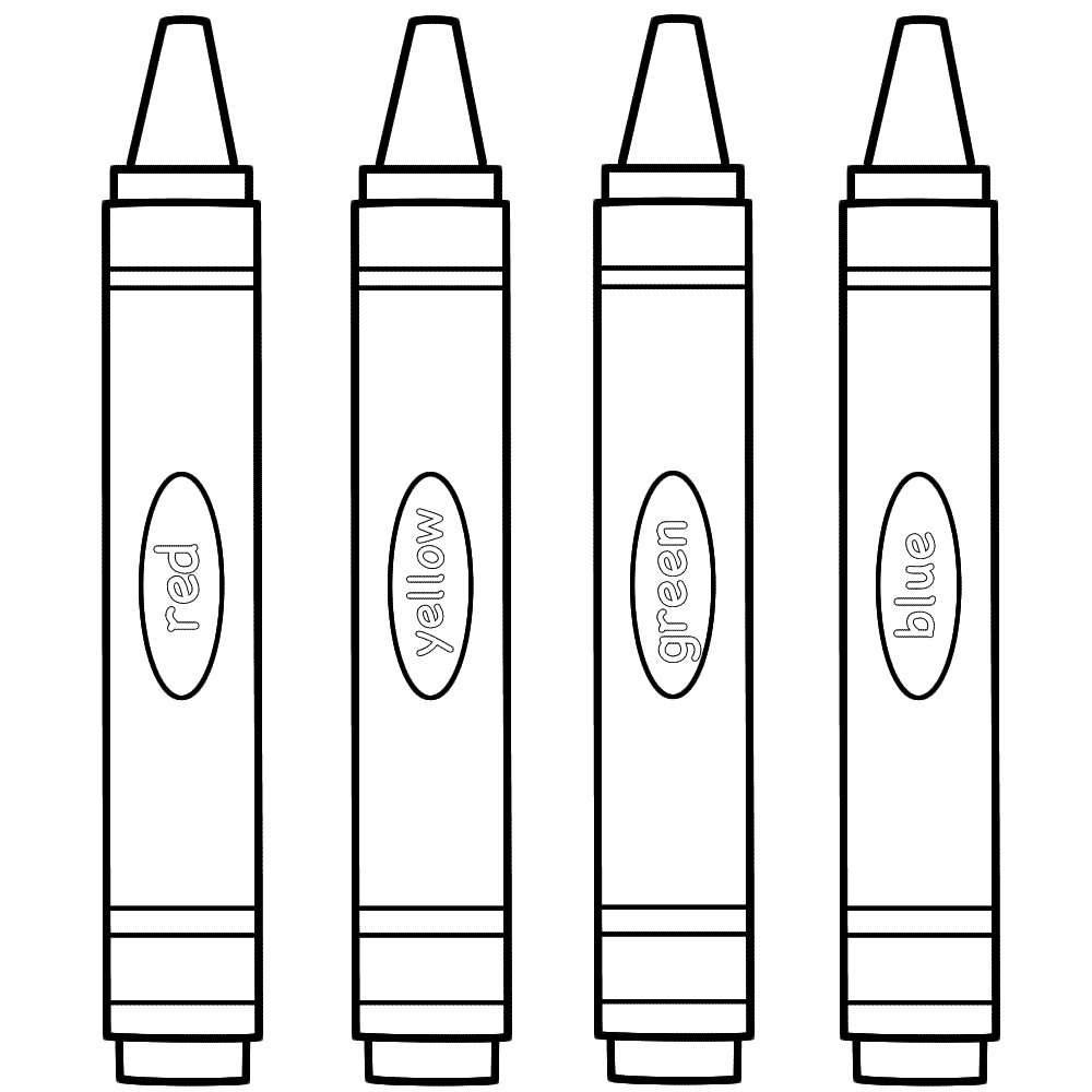 Crayon clipart coloring Coloring Party Page Pages