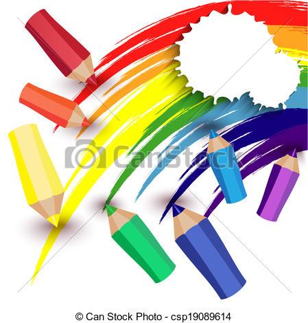 Crayon clipart crayon drawing Draw crayons Art a rainbow