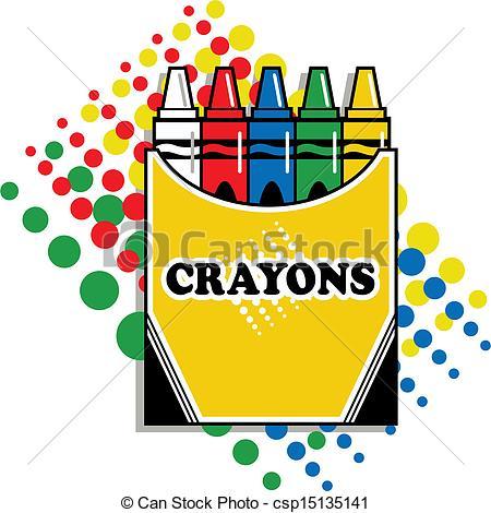 Crayon clipart crayon drawing Crayons of of Vector box