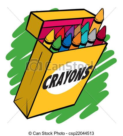 Crayon clipart crayon drawing Csp22044513 Box Crayon Clip of