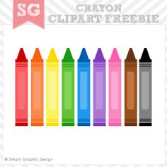 Crayon clipart cute Clipart pcs Clipart 5