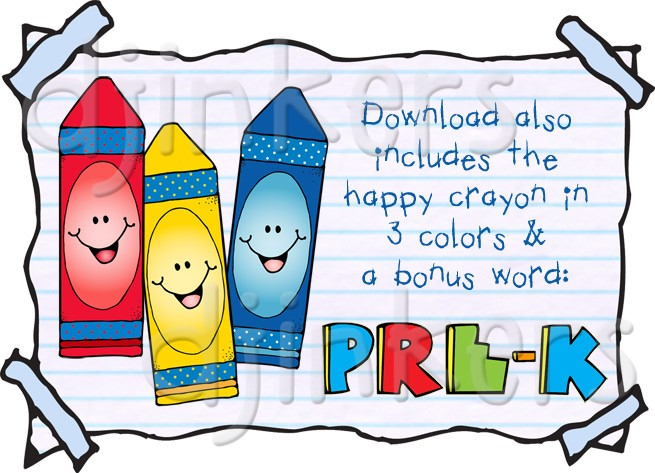 Crayon clipart cute  for kids The DJ