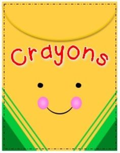 Crayon clipart cute &  Art for Crayons