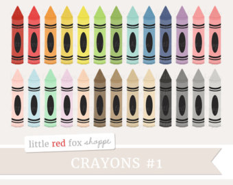 Crayon clipart cute Crayons Classroom Graphic Teaching Etsy