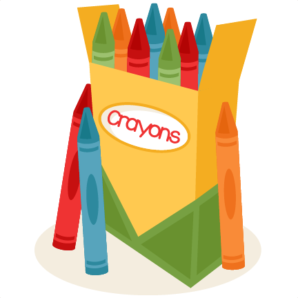 Crayon clipart cute Svgs files Box free clipart