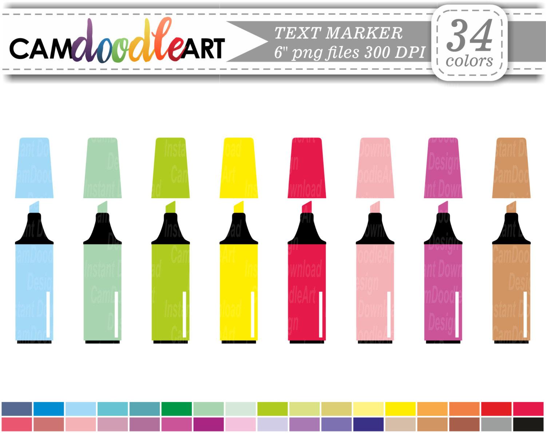 Marker clipart school Clipart Crayon Clipart Instant Clipart