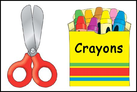 Crayon clipart early year And Clipart Scissors Crayons