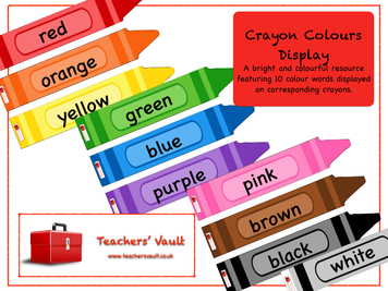 Crayon clipart early year Display Vault Years Early Colours