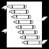 Crayon clipart eight Crayons—rainbow Art Eight Eight Clip