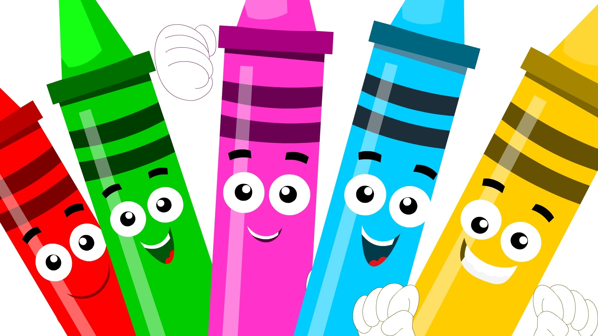 Crayon clipart five Learn Crayons rhymes little five