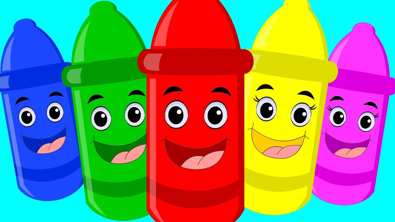 Crayon clipart five Rhymes Little Crayon Five Five