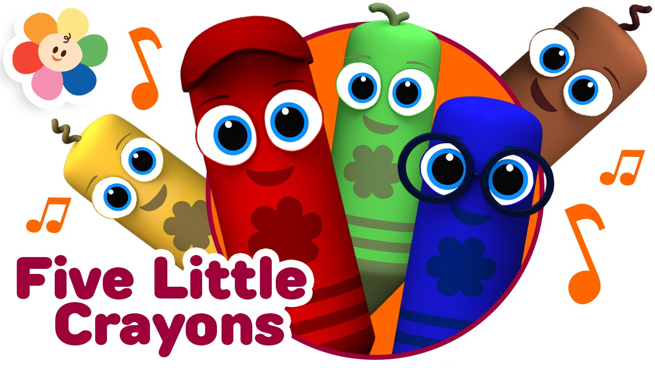 Crayon clipart five Color Kids Rhyme Babies Five