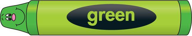 Crayon clipart green crayon Green art Collection clipart Big
