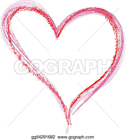 Crayon clipart heart Vector a background gg54291682 Art