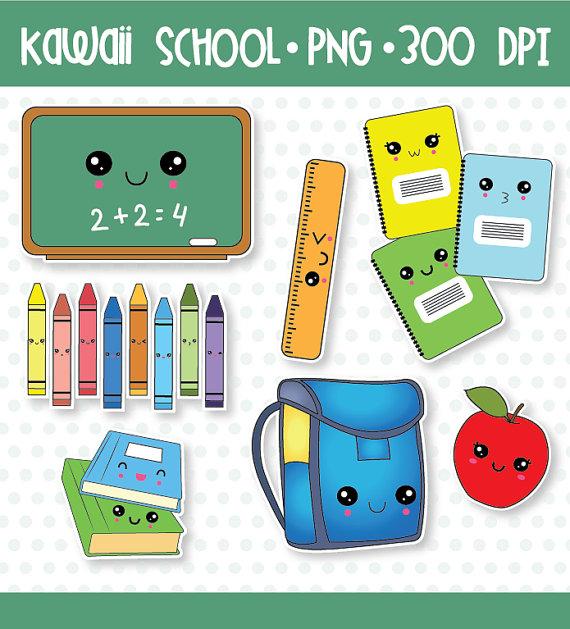 Crayon clipart kawaii 50% 50% SALE OFF back