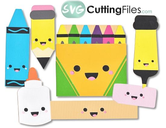 Crayon clipart kawaii From Kawaii Cutting School SVG