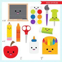 Crayon clipart kawaii Art kawaii ClipArt school digital