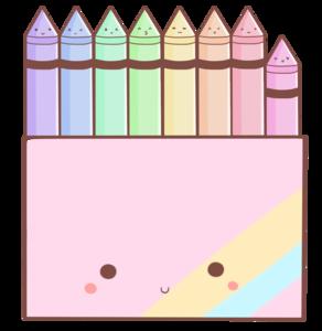 Crayon clipart kawaii  13 Garriga objects crayons