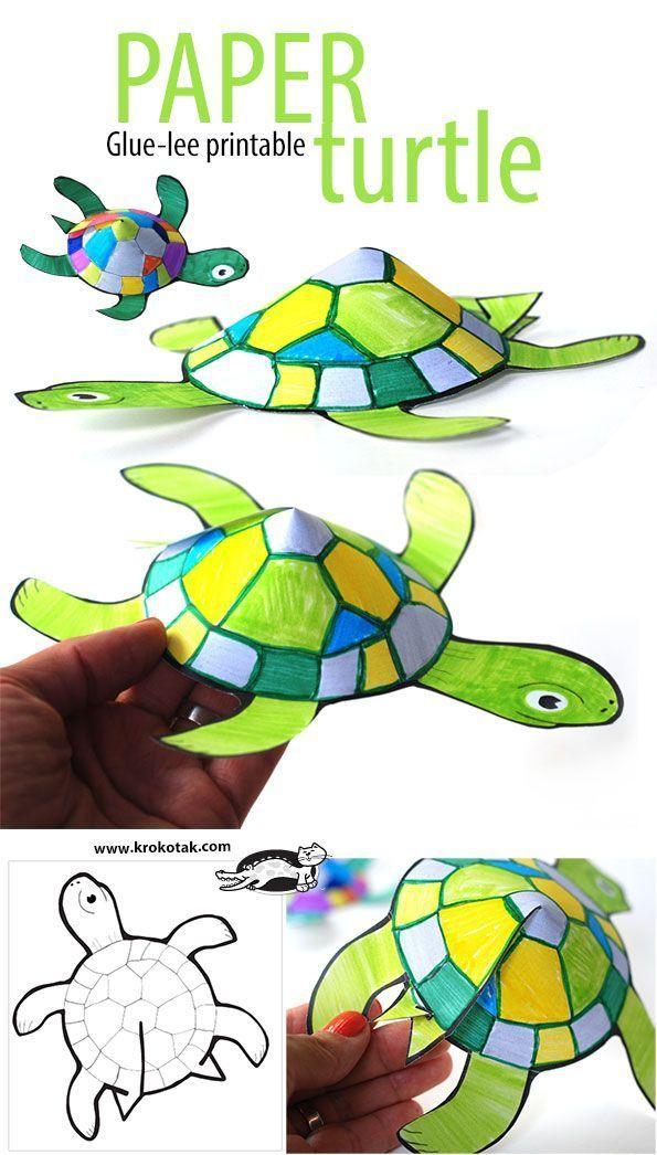 Adventure clipart spring activity Ideas crafts Spring Turtle Glue