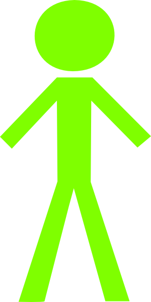 Crayon clipart lime green Clker image Green Man as: