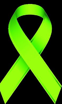 Crayon clipart lime green Symbols Awareness Ribbon Green: Ribbon