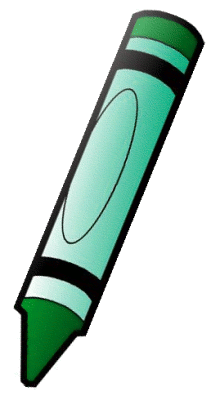Crayon clipart one Green Crayon Clipart Fashion Black