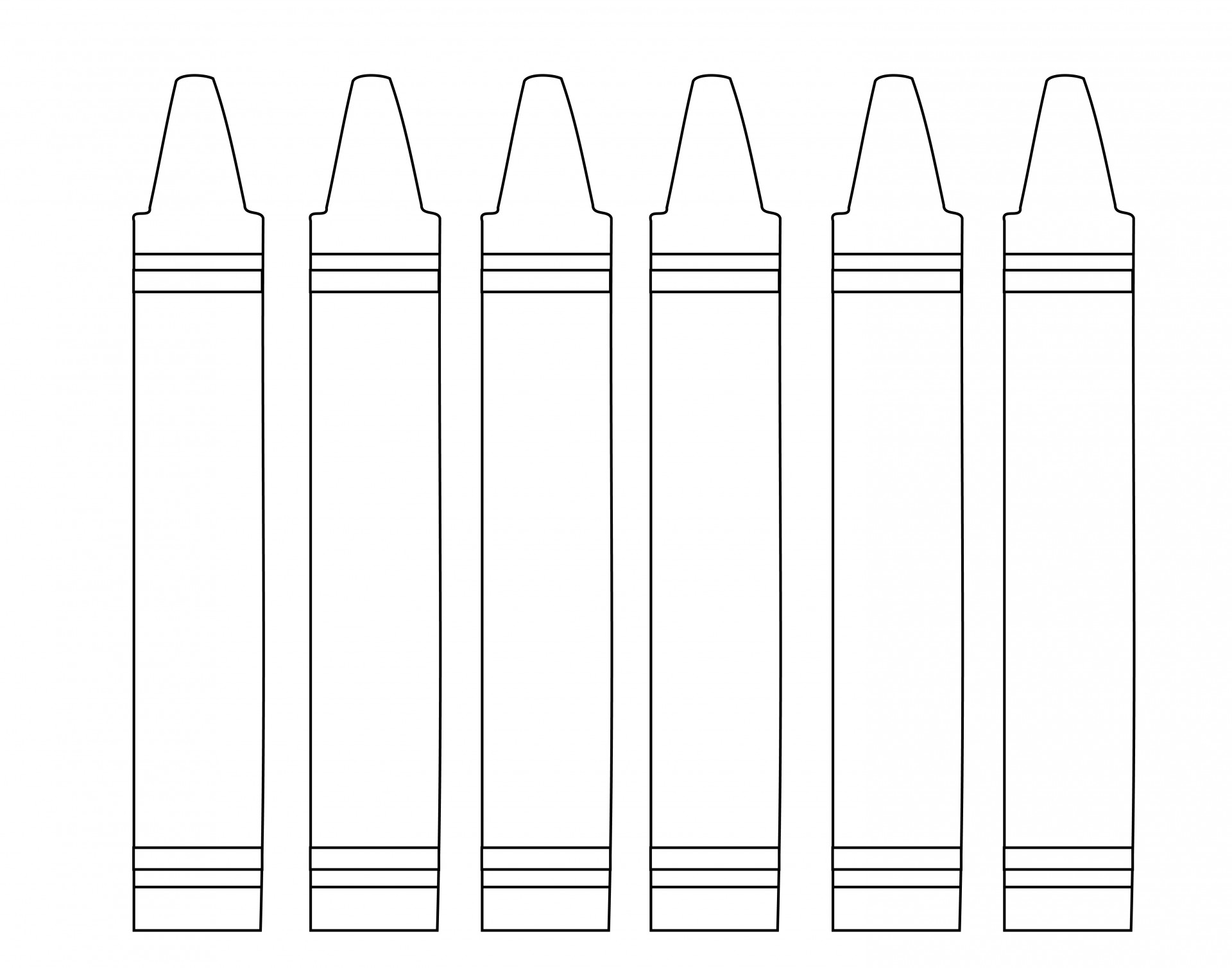 Crayon clipart outline Crayons Crayons Outline Outline Photo