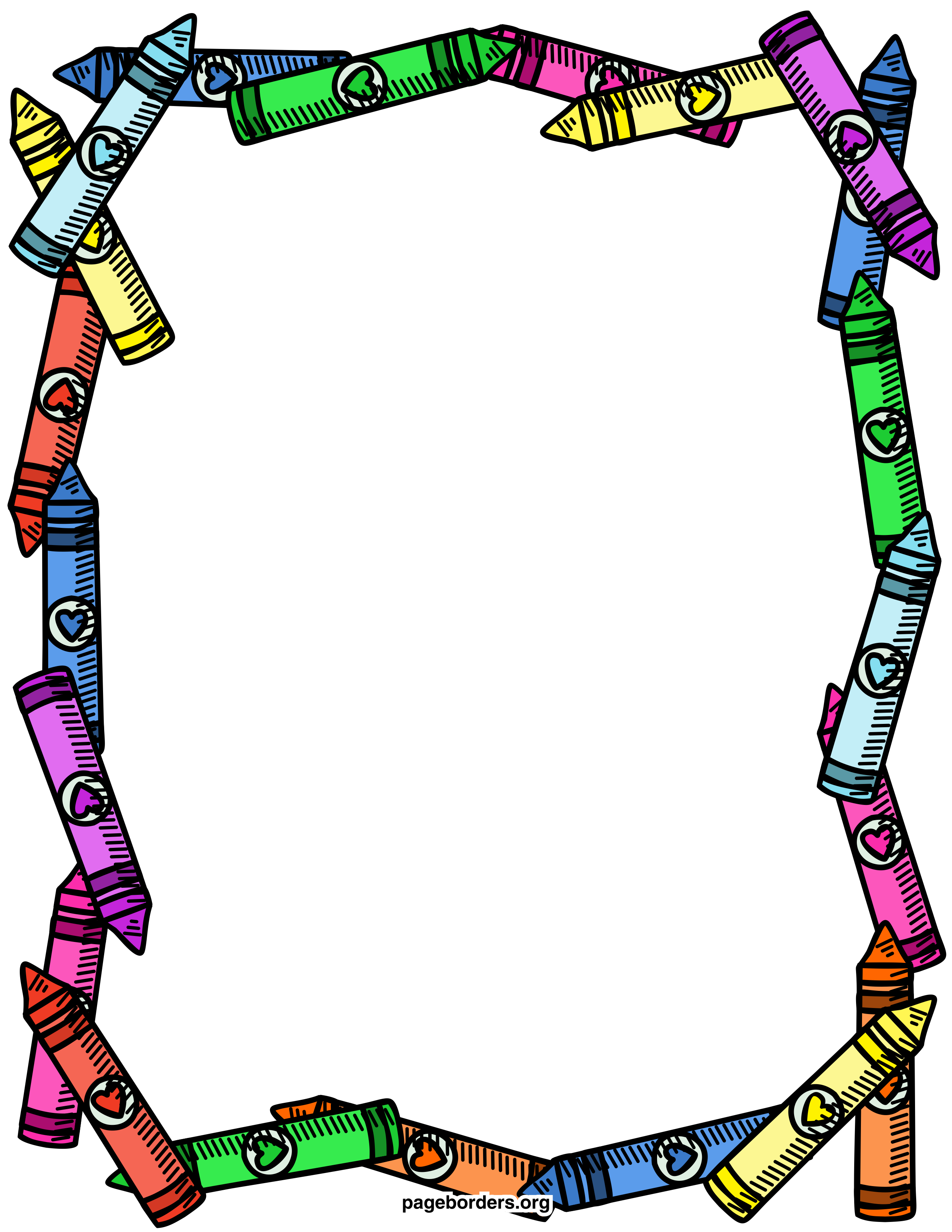 Crayon clipart page border Clip Crayon Free Page Free