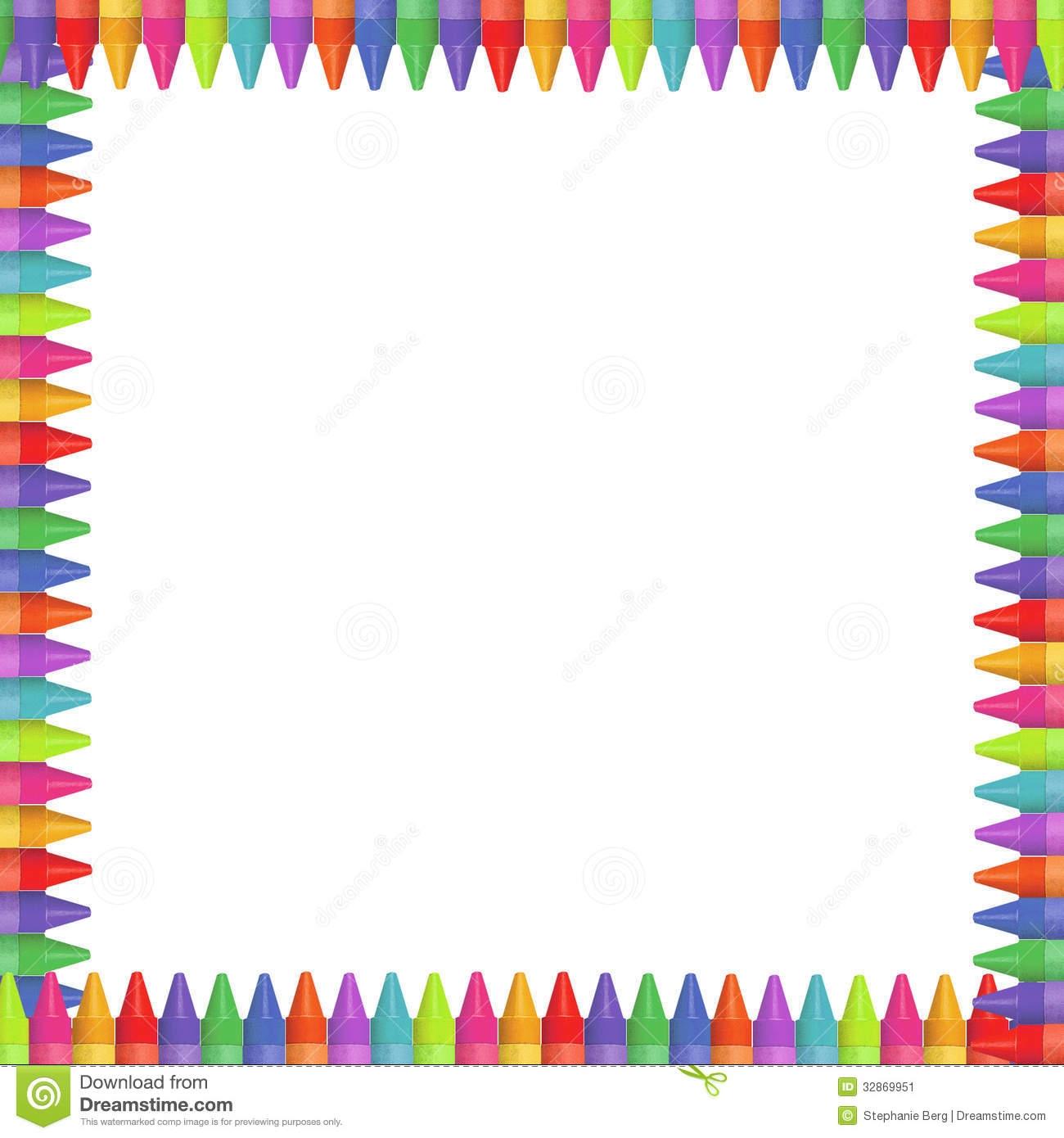 Crayon clipart page border Clipart Crayon Clipart Kid Borders