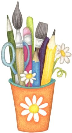 Crayon clipart paint brush Art CRAFT Pinterest School CLIP