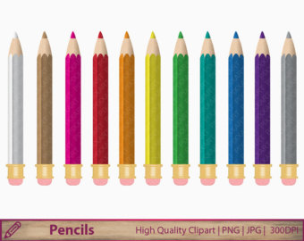 Crayon clipart pecil Instant Color clipart teacher scrapbooking
