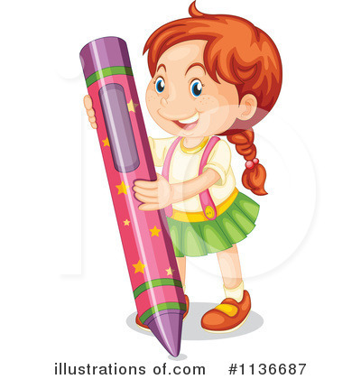 Crayon clipart person Royalty RF RF Illustration by