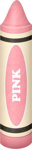Crayon clipart pink crayon CRAYON Crayons PINK Teaching ART