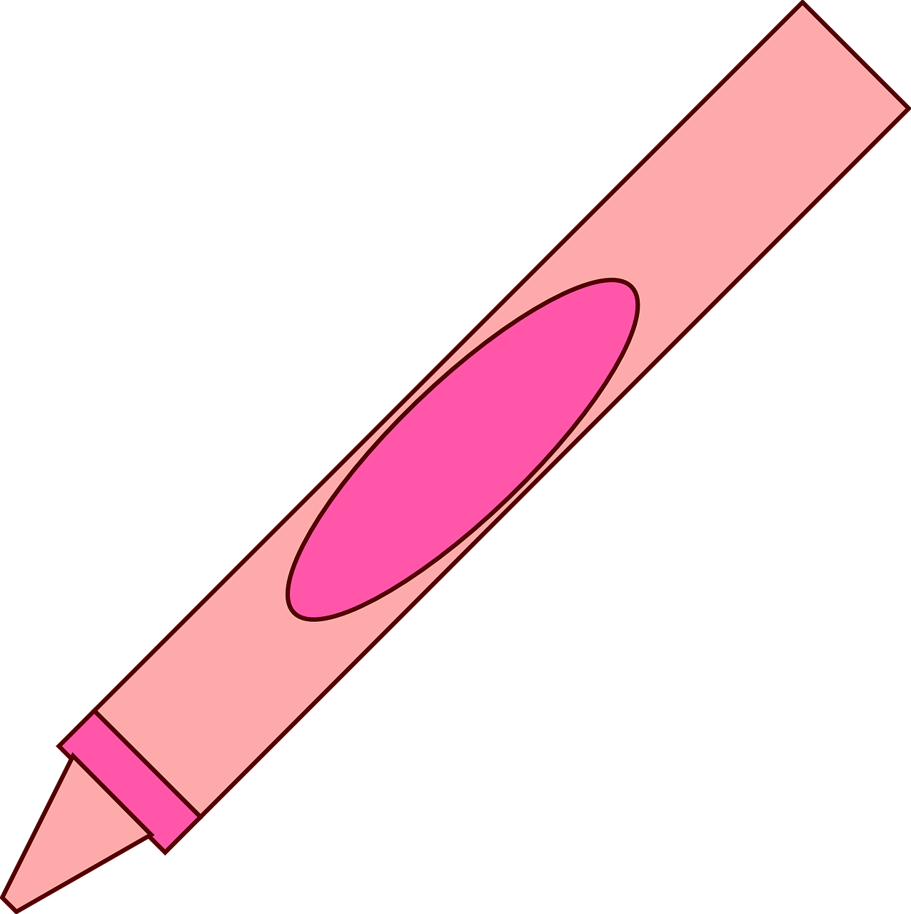 Crayon clipart pink crayon Simple Domain Free Use Crayon