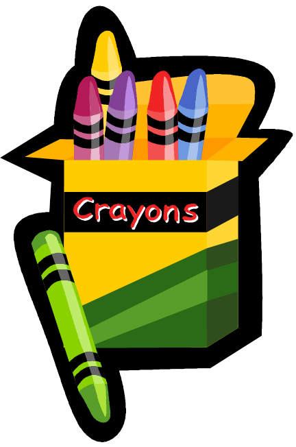 Crayon clipart preschool learning Clipart english schedule class english