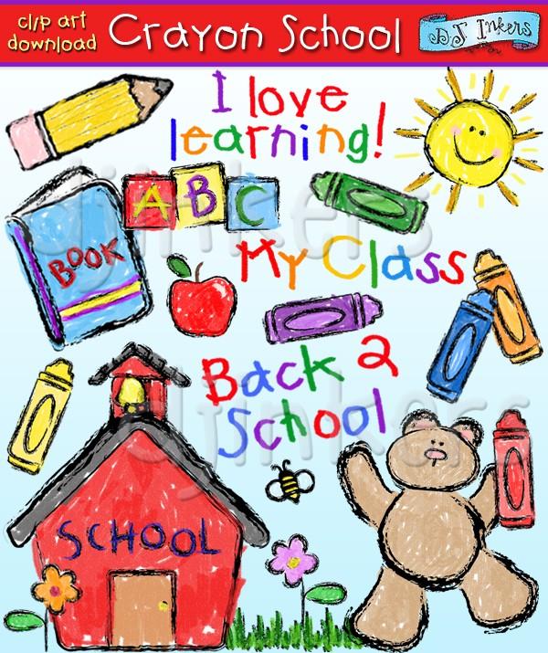 Crayon clipart school Art school crayon Inkers art