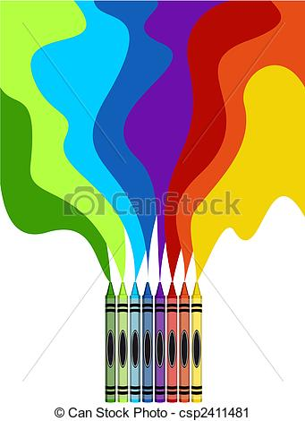 Paint clipart crayon Rainbow collection Clip clipart of