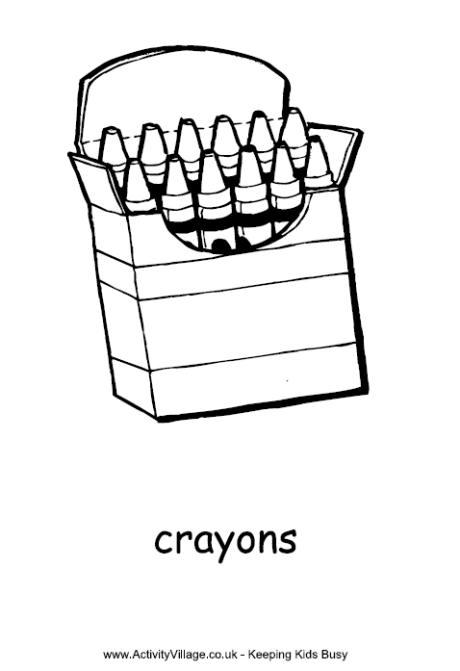 Crayon clipart six Panda nursery clipart box Coloring