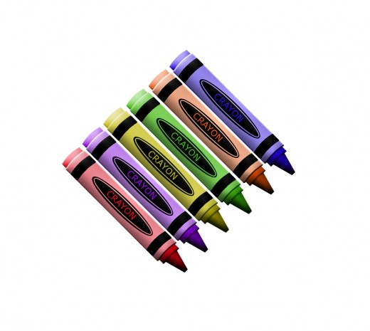 Crayon clipart six Images School To Art Clip