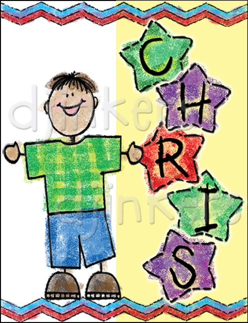 Crayon clipart star Clip Inkers Star alphabet by