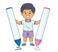 Crayon clipart student Holding Kb crayon Size: From:
